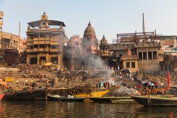 Burning Ghat at Varanasi, India
