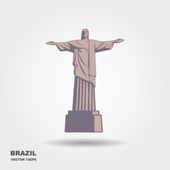 Statue of Christ vector illustration