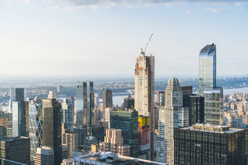 new york ,usa. 8-24-17: new york skyline in the evening.