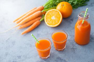 carrot and orange fresh juice