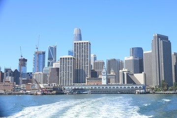Morning view of the Financial District in San Francisco