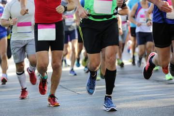 Marathon runners legs only