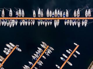 Aerial Drone View of Pendik Marina Istanbul Seaside