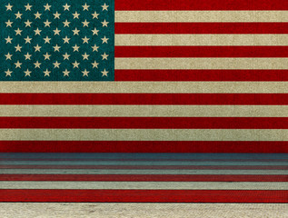USA style background - 3D Render