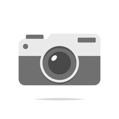 Camera icon vector isolated