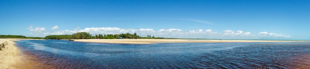 Corumbau river - River, beach and landscape - Rio, praia e paisagem espetacular (Prado - Bahia - Brazil)