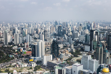 Panorama of Bangkok, Thailand. Skyscrapers of Bangkok city