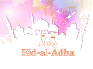 nice and beautiful abstract or poster for Eid Al Adha or Bakrid with nice and creative design illustration.