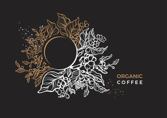 Vector nature floral template, elegant banner