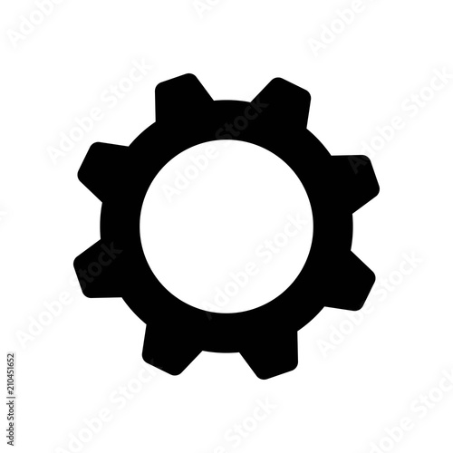 Settings icon vector icon  Simple element illustration  Settings