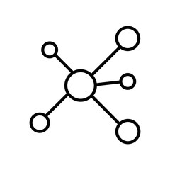 Network icon vector icon. Simple element illustration. Network symbol design. Can be used for web and mobile.
