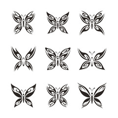 Vector Abstract Butterfly Logo Design Template