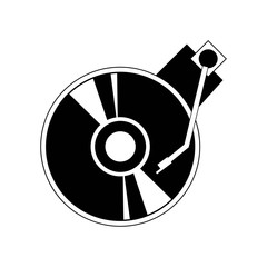 Turntable icon vector icon. Simple element illustration. Turntable symbol design. Can be used for web and mobile.