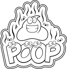 Cartoon Poop Text