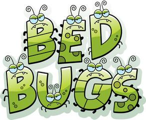 Cartoon Bed Bug Text