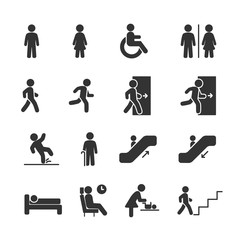 Vector image set of people navigation icons.