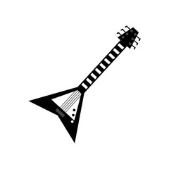 electric guitar icon vector icon. Simple element illustration. electric guitar symbol design. Can be used for web and mobile.