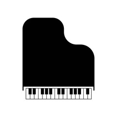 piano icon vector icon. Simple element illustration. piano symbol design. Can be used for web and mobile.
