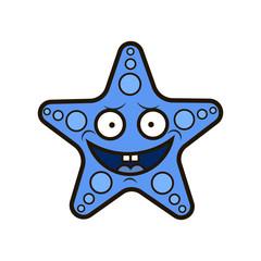 Starfish in flat style.
