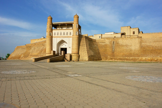 The Ark of Bukhara fortress located in the city of Bukhara, Uzbekistan