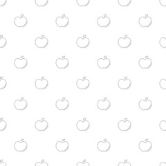 Apple background from line icon. Linear vector pattern