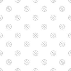 Basketball background from line icon. Linear vector pattern