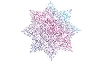 Hand Drawn Mandala Coloring Book Mantra
