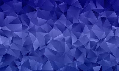 Dark blue polygon background with triangles of different shape and size Geometric pattern, backdrop.