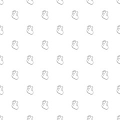 Heart background from line icon. Linear vector pattern