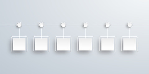 Crystal White Label, Timeline Chart #Vector Background