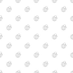 World search background from line icon. Linear vector pattern