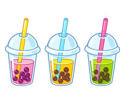 Bubble tea cups