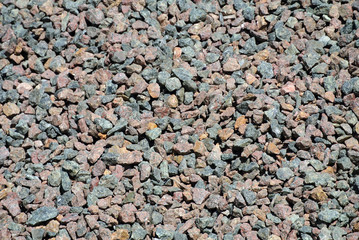 a bunch of colored gravel for building