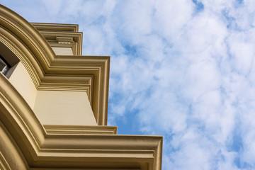 Heritage listed building in Queensland, looking skyward