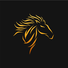 Horse Logo Design Template - Vector Illustration