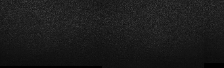 Panorama of Black leather texture and background Fotoväggar