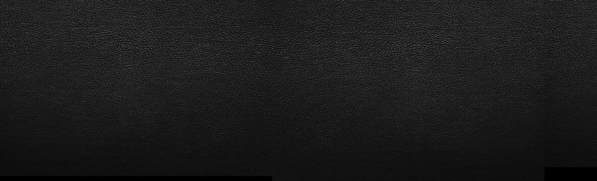 Panorama of Black leather texture and background