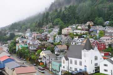 Colorful houses in Ketchikan, Alaska