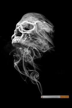 Smoking is death (Concept of no smoking)