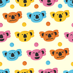 cute koala seamless pattern