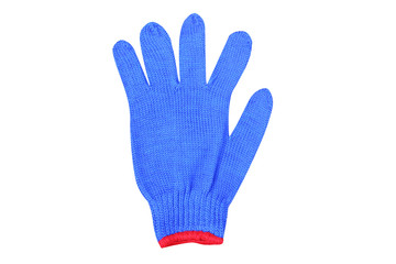 Blue gloves isolated