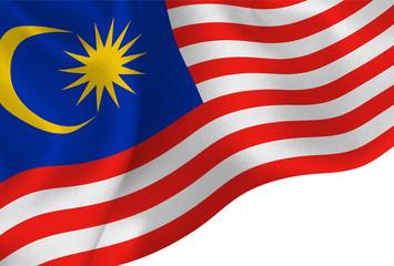 マレーシア  国旗 旗 背景