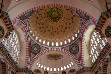 The Fatih Mosque in Istanbul, Turkey.
