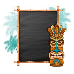 Tiki Mask And Bamboo Frame