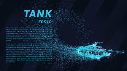 The tank of particles. The tank consists of small circles. Vector illustration.