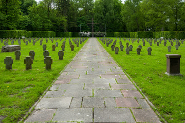 The Ehrenfriedhof in Wilhelmshaven, Germany.