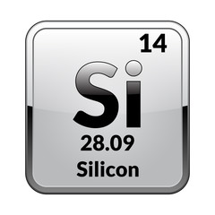 The periodic table element Silicon.Vector.