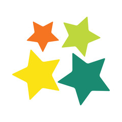 stars family logo multicolored on white background