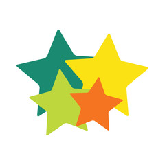 stars family logo multicolored on white background together