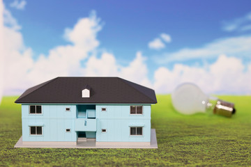 アパート 電気 イメージ 青空